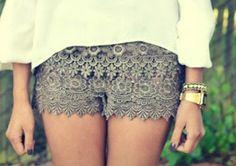 shorts de renda.