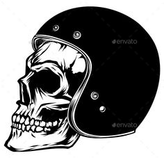 Motorcycle Skull — Vector EPS #design #tag • Available here → https://graphicriver.net/item/motorcycle-skull/9329151?ref=pxcr