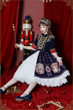 Uwowo -The Coronation of Brumaire- Military Lolita OP Dress,Lolita Dresses, Op One Piece, One Piece Dress, Visual Kei, Cosplay Dress, Cosplay Costumes, Mode Lolita, Harajuku, Estilo Lolita, Military Dresses