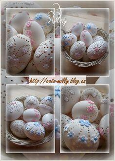 velikonoce Egg Art, Egg Decorating, Easter Eggs, Decoration, Crafts, Food, Wood, Balls, Eggs