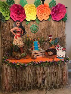 Moana Birthday Party Ideas Photo 1 of 9 Moana Birthday Decorations, Moana Birthday Party Theme, Moana Themed Party, Luau Theme Party, Hawaiian Birthday, Luau Birthday, 4th Birthday Parties, Birthday Ideas, Hawaiian Parties