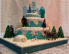 Frozen cake Disney Frozen Birthday, Frozen Cake, Desserts, Food, Tailgate Desserts, Deserts, Essen, Postres, Meals