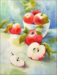 akvarell - almák