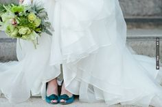 teal wedding shoes | Bridal Musings | CHECK OUT MORE IDEAS AT WEDDINGPINS.NET | #weddings #weddinginspiration #inspirational
