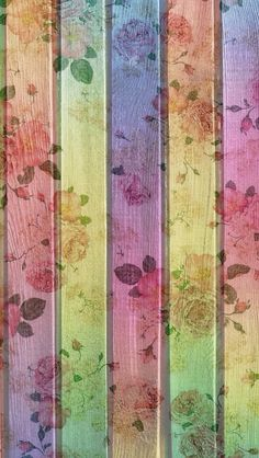 Pink yellow lilac vintage faded floral wood iphone wallpaper phone background lockscreen