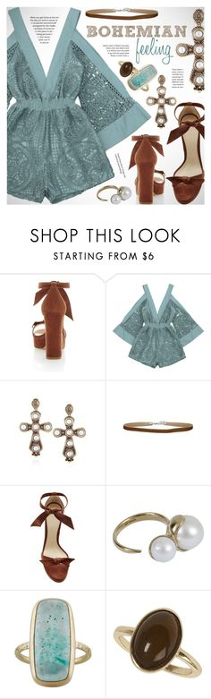 """""""Weekend: bohemian feeling"""" by vn1ta ❤ liked on Polyvore featuring Alexandre Birman, mizuki and Dorothy Perkins"""