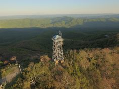 Fryingpan lookout tower of the Pisgah National Forest.  Easily reached from a trail just off the Blue Ridge Parkway.