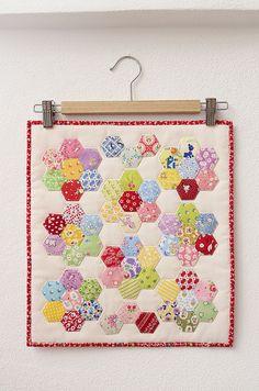 Hexagon Flower Doll Quilt by ellis&higgs