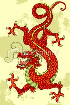 Chinese Dragon Royalty Free Stock Vector Art Illustration