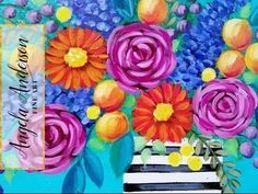 Easy Roses Acrylic Painting Quick Tip | How to Paint an Impressionist Rose - YouTube