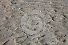 Beach structures in the sand on the Dutch coast.
