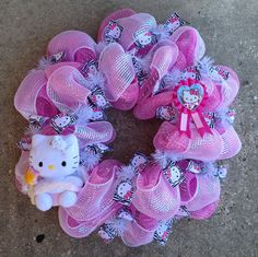 Hello Kitty wreath Made by Missy