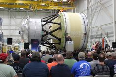 A test article of the interim cryogenic propulsion stage (ICPS) for NASA's new deep-space exploration rocket, the Space Launch System (SLS), has been completed at United Launch Alliance in Decatur, Alabama, prior to handover to the Boeing Company of Chicago.