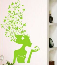 Spring girl  Wall Art Home Decors Murals Removable by PopDecals, $20.00