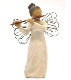 Product Description:Willow Tree Angel of Harmony. Resin and metal. Angel is playing the flute. Sentiment: In harmony with life's rhythm Willow Tree Angels, Willow Tree Figurines, Discount Rugs, Collectible Figurines, Sculpting, Birthday Gifts, Sculptures, Carving, Hand Painted