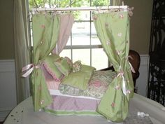 Beds made for a princess but fit for an American Girl Doll