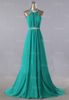 green prom dress long prom dress chiffon prom dress by fitdesign
