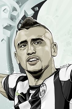 wacom intuos and photoshop arturo vidal Realistic Cartoons, Sports Art, Football Players, Avatar, Soccer, Photoshop, Hero, Deviantart, Graphics