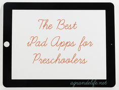 Best apps for preschoolers for the ipad. I love it! I didnt know about ANY of these!#Repin By:Pinterest++ for iPad#