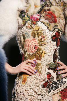 Jean Paul Gaultier Tapestry detail.