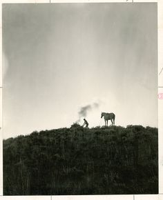A Native American sends smoke signals in Montana, June 1909.Photograph by Dr. Joseph K. Dixon, National Geographic Creative