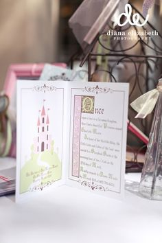 Fairytale Book Princess Invitation by PaperCandee on Etsy