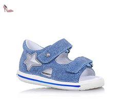 FALCOTTO NATURINO - Chaussure bleue à lacets en suède et tissu, idéal pour ramper et pour la première étape, bébé (garçon)-18