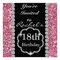18th Birthday GLAM Invitation