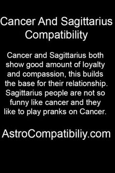 cancer and sagittarius relationship horoscope