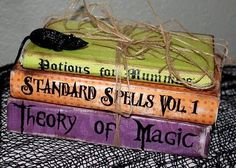 spell book Halloween labels | visit piccolinadesigns blogspot com
