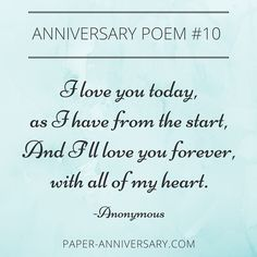 23 Best Anniversary Quotes Poems Images Paper Anniversary Poems