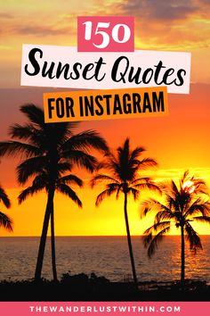 Looking for the best Sunset Quotes for Instagram? Check out this handy list of 150 beautiful, funny, short, and clever Instagram Sunset Quotes to get you in the summer mood #sunsetquotes  | beautiful sunset quotes deep | inspirational sunset quotes instagram caption | sunset quotes instagram short | sunset quotes beach | sunset quotes life | chasing sunset quotes short | sunset captions for instagram short | short sunset captions for instagram happiness | beach sunset captions clever Beach Sunset Quotes, Sunset Quotes Life, Instagram Captions Sunset, Sunset Quotes Instagram, Best Travel Quotes, Best Places To Travel, Caption For Sunset, Beach Sunset Photography, Nature Beach