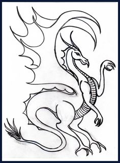 Realistic Dragon Coloring Pages Printable | CP-Dragon