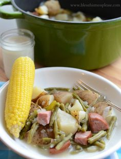 Farmstand One Pot Wonder with Ham Hearty Easy and Delicious Dinner Recipe via Bless this Mess