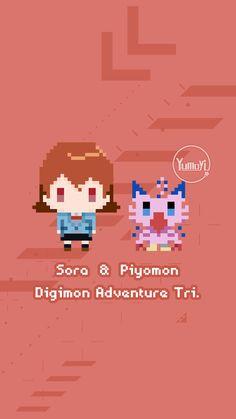 Sora & Piyomon #DIGIMON ADVENTURE TRI