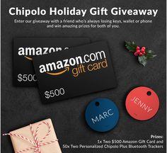 Chipolo Holiday Gift Giveaway  https://wn.nr/3bdAEt