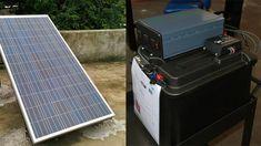 Portable Solar Power, Portable Solar Panels, Solar Power System, Diy Solar Panel Kits, Emergency Power, Solar Generator, Solar Projects, Old Computers, Solar Charger