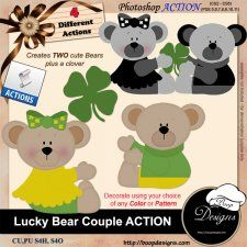 Lucky Bear Couple ACTION by Boop Designs cudigitals.com cu commercial scrap scrapbook digital graphics#digitalscrapbooking #photoshop #digiscrap