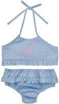 Light Blue Dot Initial Bikini - Infant Toddler & Girls
