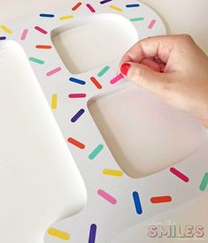 OMG, this is such a great idea for vinyl scraps!! Colorful DIY Sprinkle Letter & Matching Frame: A Great Vinyl Scrap Buster! Where The Smiles Have Been #vinyl #sprinkles #Silhouette