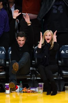 Reese Returns to LA For an Emotional Basketball Night With Her Husband | Courtside photos