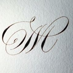 Beautiful calligraphic M Calligraphy Tutorial, Calligraphy Drawing, Copperplate Calligraphy, Calligraphy Practice, Calligraphy Handwriting, Calligraphy Letters, Penmanship, Caligraphy, Modern Calligraphy