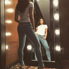 But first, let me take a #belfie  Excited to be the new face of @leejeansindia #BodyOptix #ReshapeYourWorld
