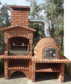 """Awesome """"built in grill diy"""" info is offered on our internet site. Read more and you wont be sorry you did. Rustic Kitchen Design, Outdoor Kitchen Design, Grill Diy, Brick Bbq, Pizza Oven Outdoor, Outdoor Barbeque, Backyard Kitchen, Built In Grill, Outdoor Living"""