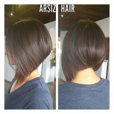 "32 Likes, 4 Comments - Arsiz Hair (@arsizhair) on Instagram: ""#haircut#bobstyle#graduatedbob#blowdry#Arsizhair#"""