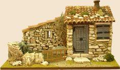 Bergerie toit en avant Fairy Village, Diorama, Firewood, Nativity, Clay, House Styles, Building, Crafts, Fairies