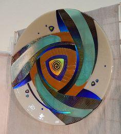 Vidrio fundido plato por glassfusedbysuzanne en Etsy
