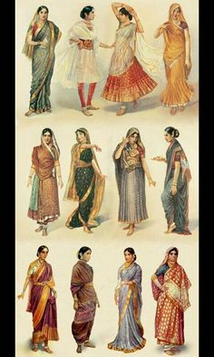 Ancient Indian Fashion . Some of my inspiration.