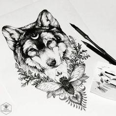 New Drawing Wolf Tattoo Thighs Ideas Neck Tattoos, Forearm Tattoos, Body Art Tattoos, Wrist Tattoo, Tattoo Thigh, Foot Tattoos, Tattoo Ink, Animal Thigh Tattoo, Tatoos
