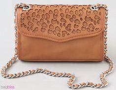 Cheetah Mini Affair by Rebecca Minkoff: Laser cut leather. Adorable! via bagbliss #Handbag #Rebecca_Minkoff